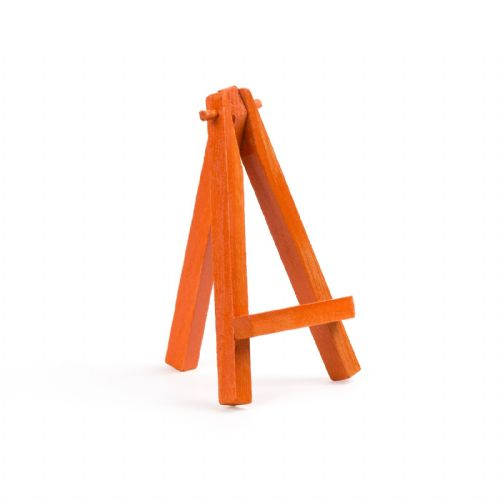 "Orange Colour Mini Easel 5"" - Beech Wood"